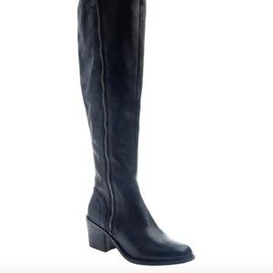 Black Clooney Leather/Textile Boot - Women